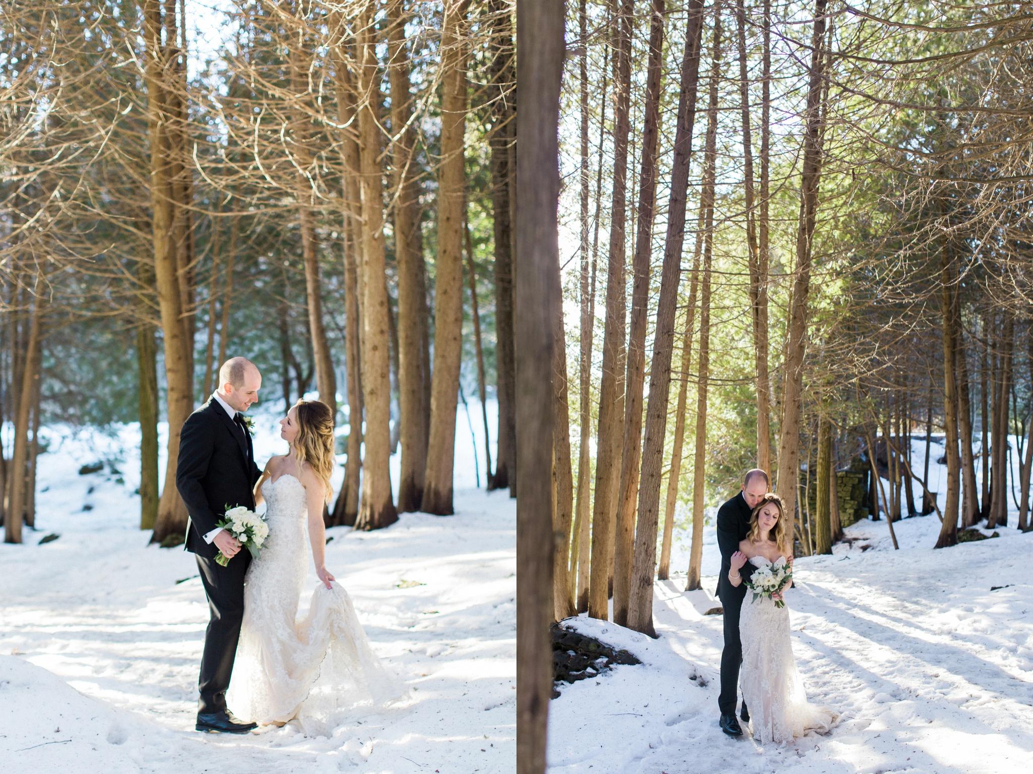 Caledon Wedding Photographer, winter wedding, toronto wedding photographer