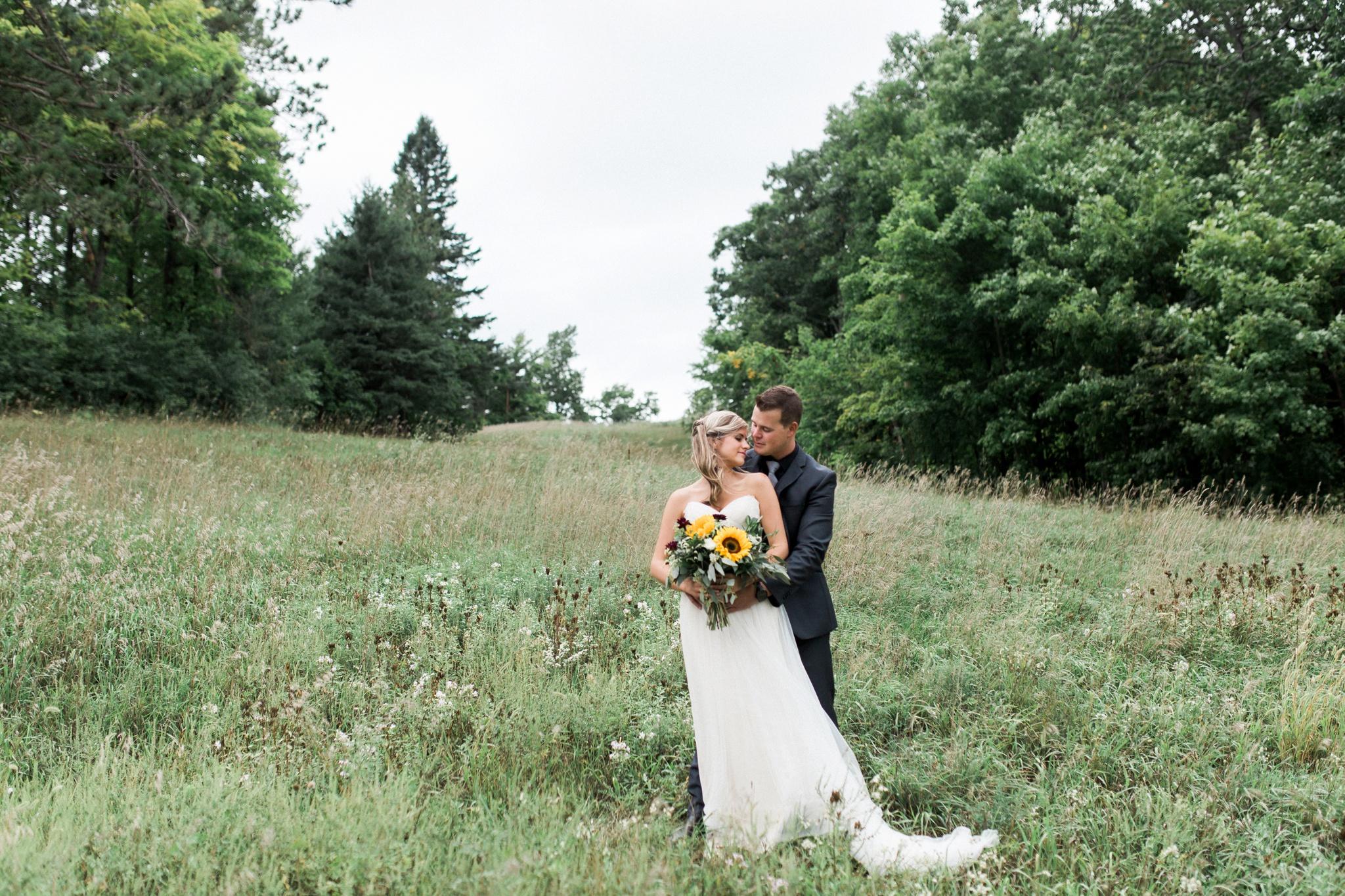 Outdoor Wedding, Sunflower Bouquet